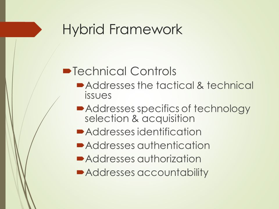 Hybrid Framework Technical Controls