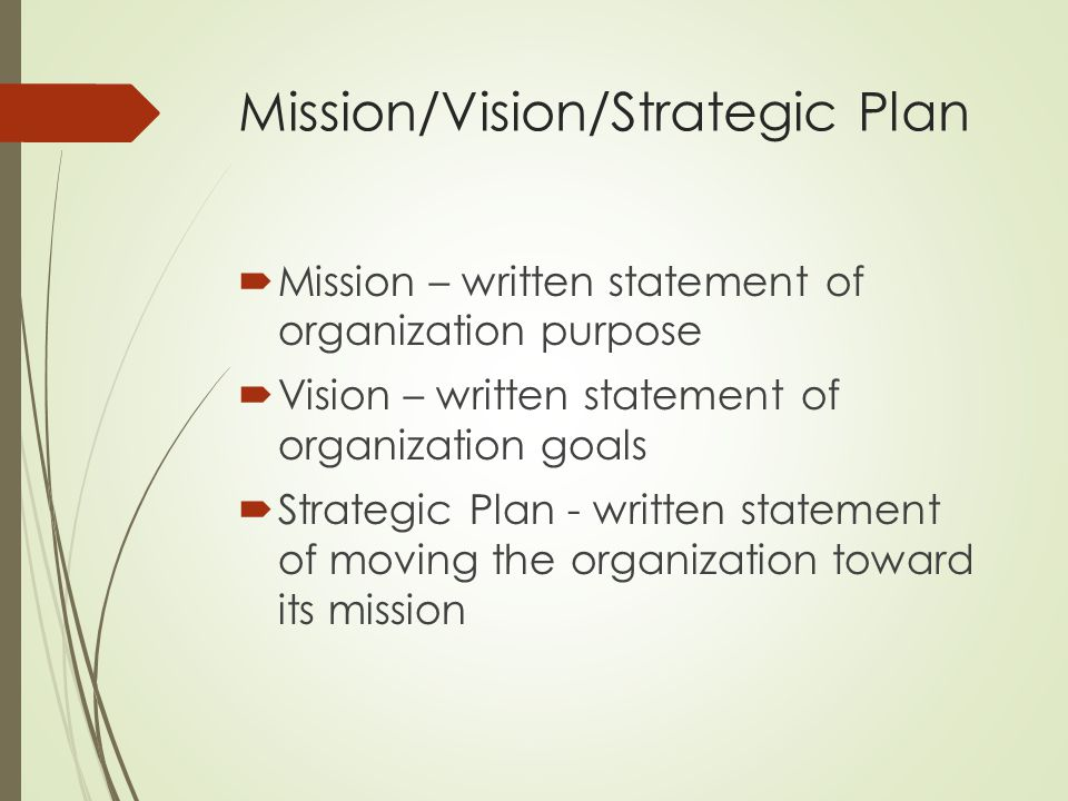 Mission/Vision/Strategic Plan