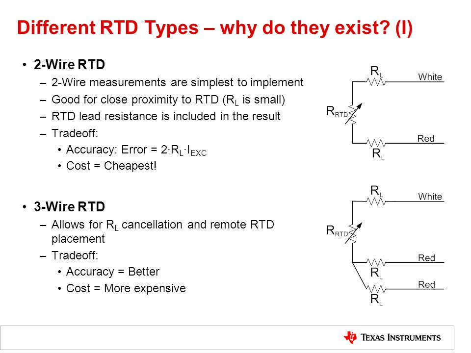 Different RTD Types – why do they exist (I)