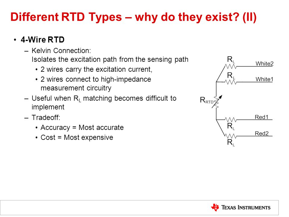 Different RTD Types – why do they exist (II)