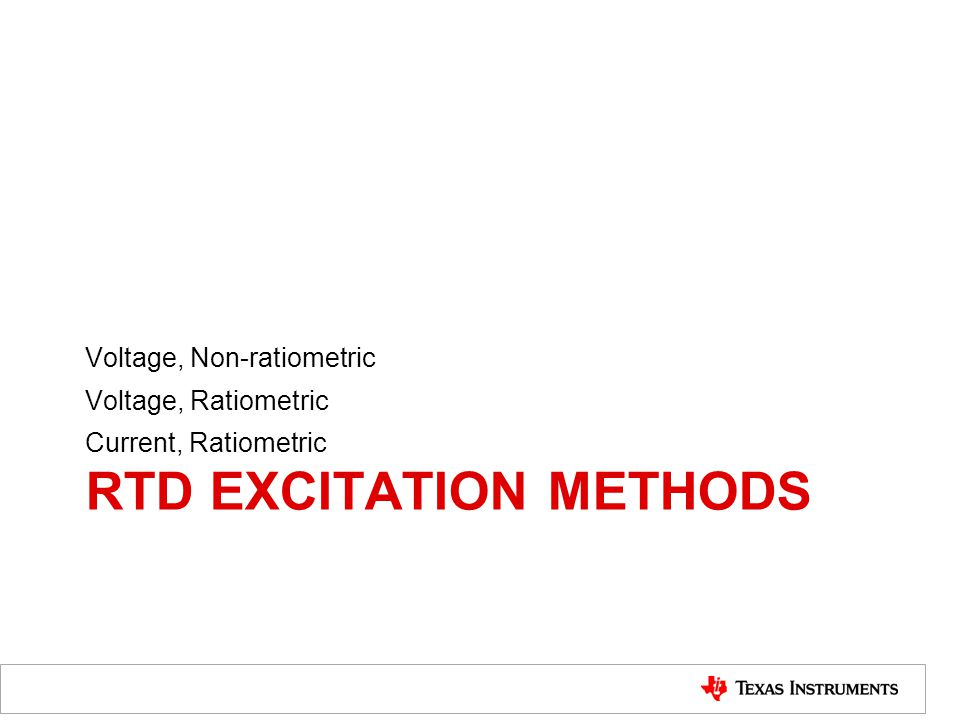 rtd excitation Methods