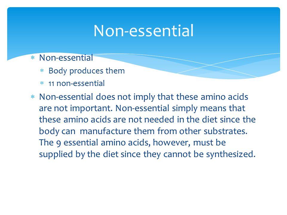 Non-essential Non-essential