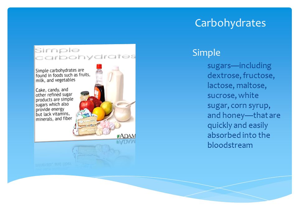 Carbohydrates Simple.