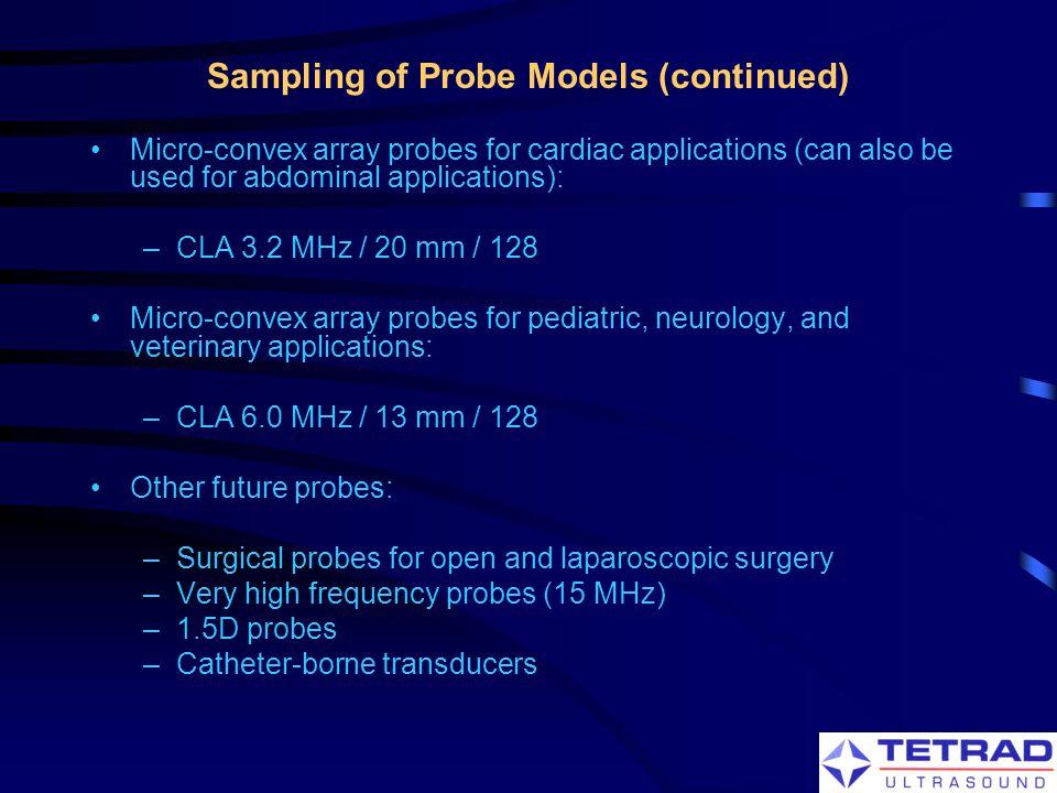 Sampling of Probe Models (continued)