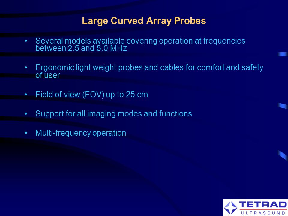 Large Curved Array Probes
