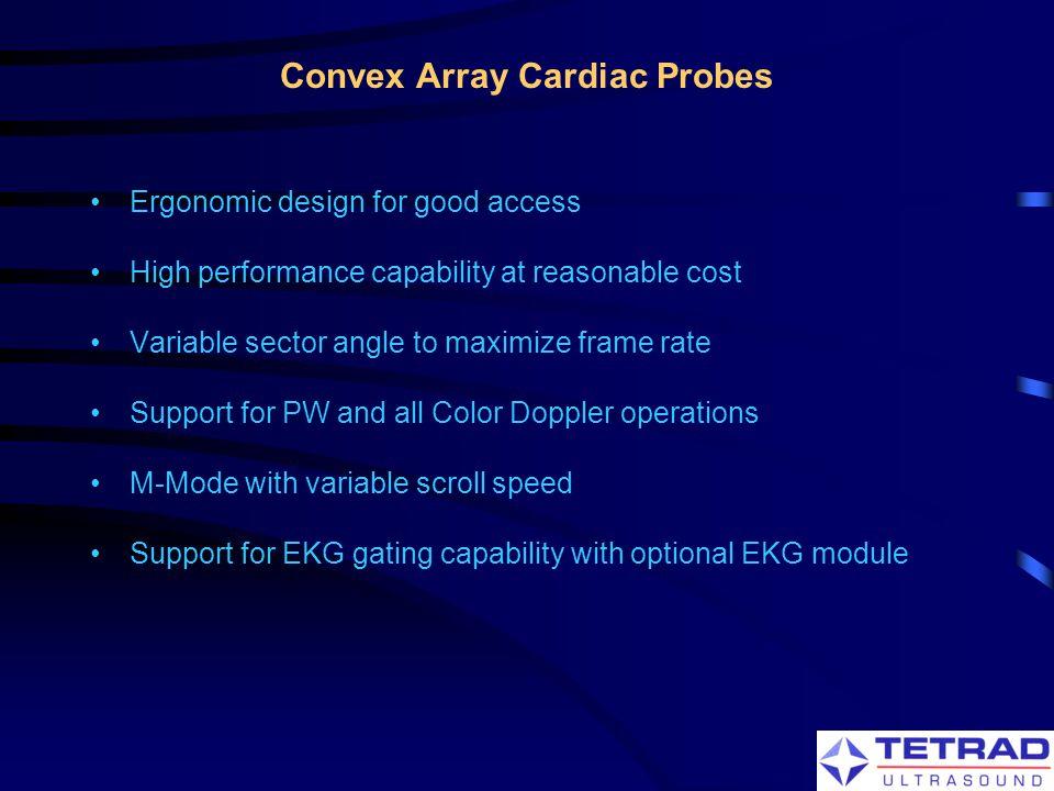 Convex Array Cardiac Probes