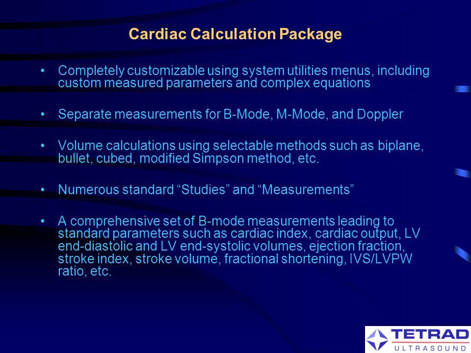 Cardiac Calculation Package