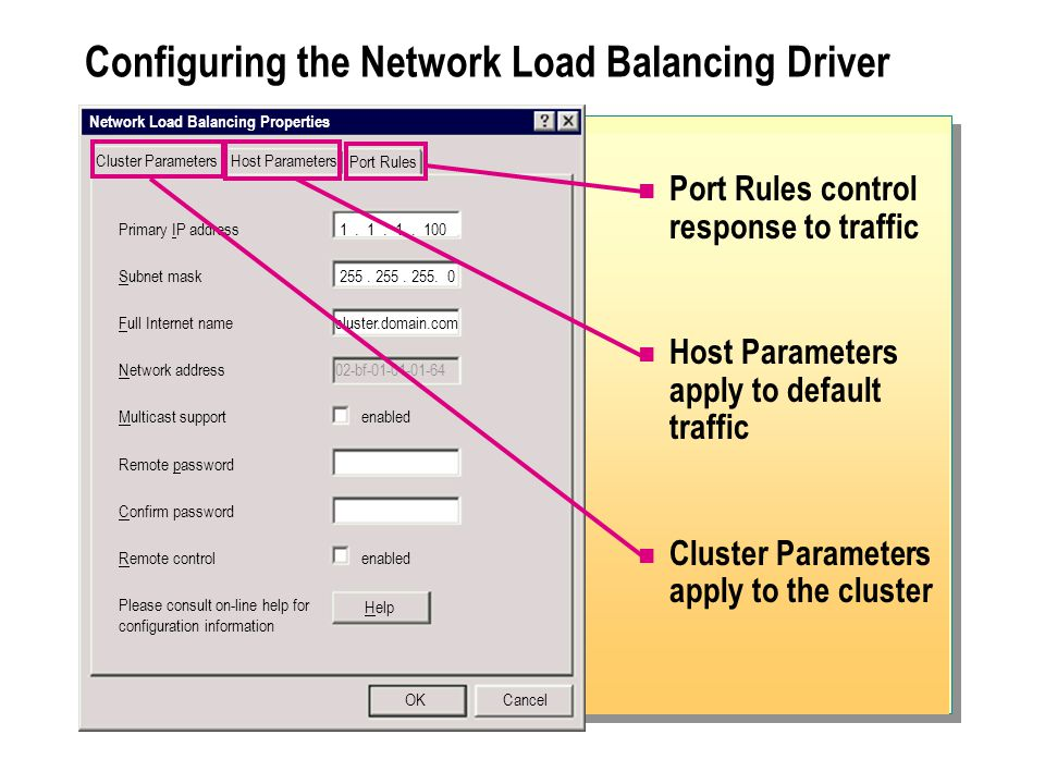 Configuring the Network Load Balancing Driver
