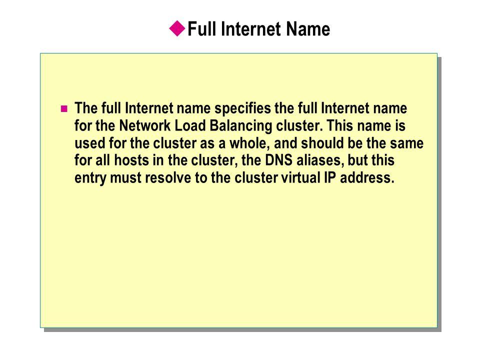 Full Internet Name
