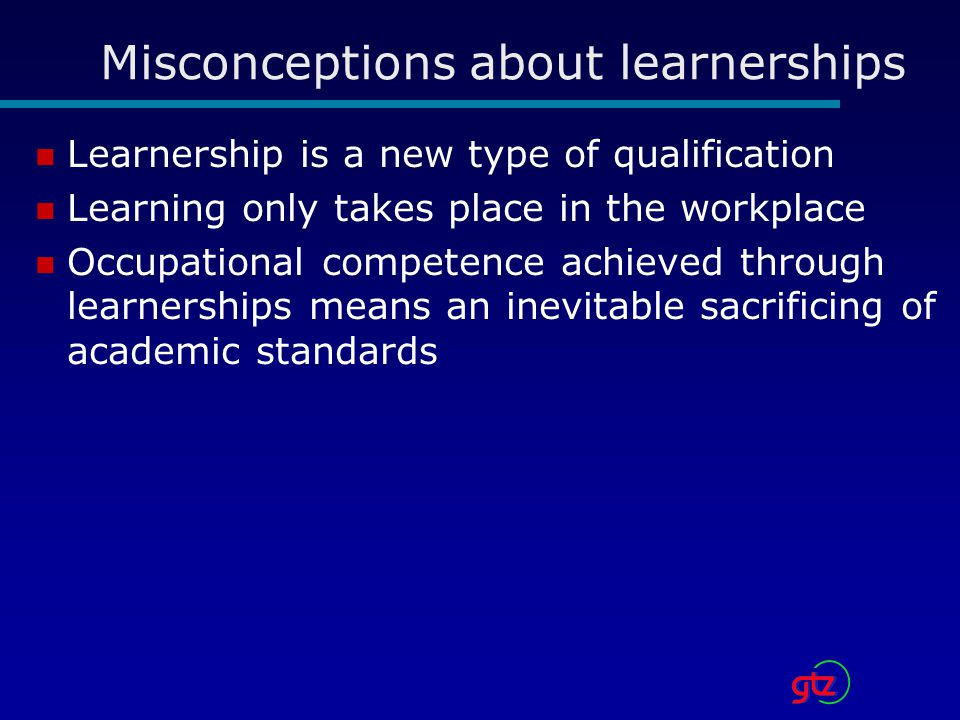 Misconceptions about learnerships