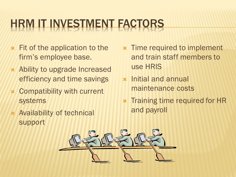 HRM IT Investment Factors