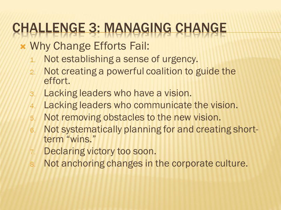 Challenge 3: Managing Change