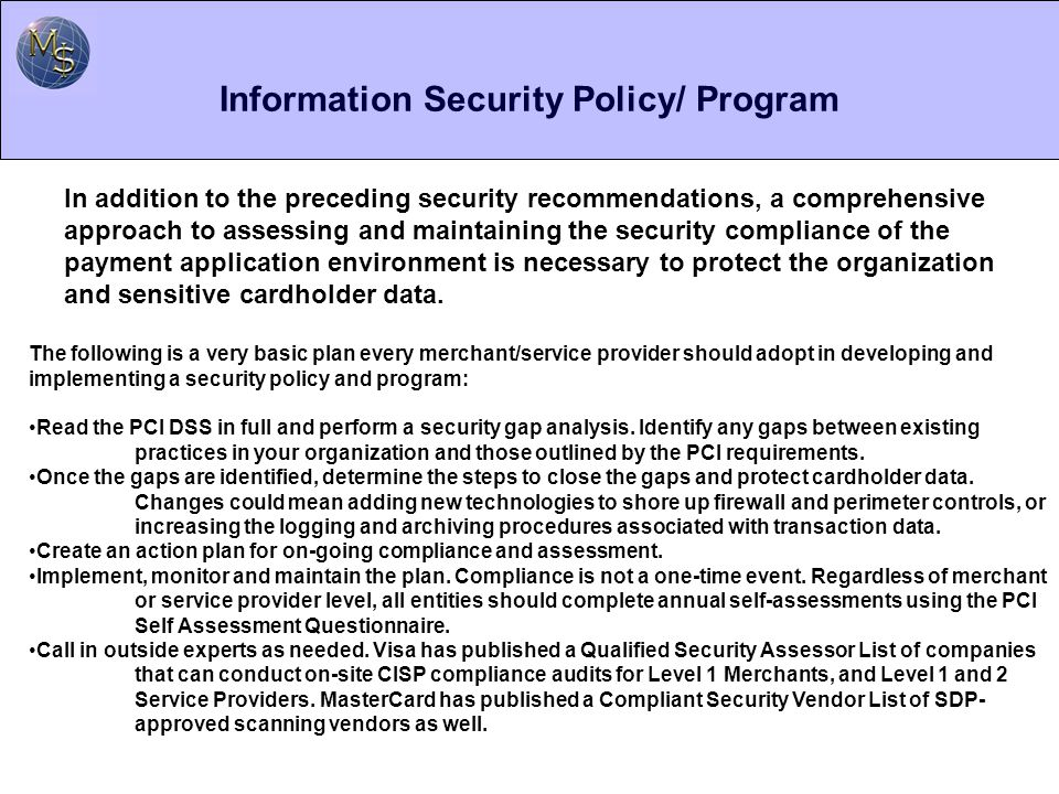 Information Security Policy/ Program