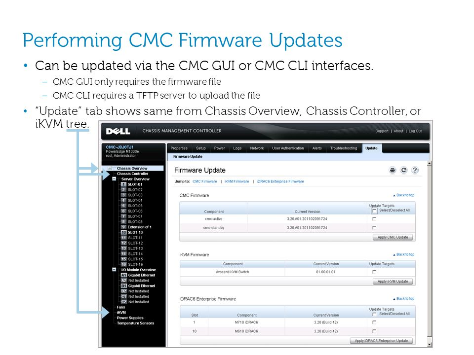 Performing CMC Firmware Updates