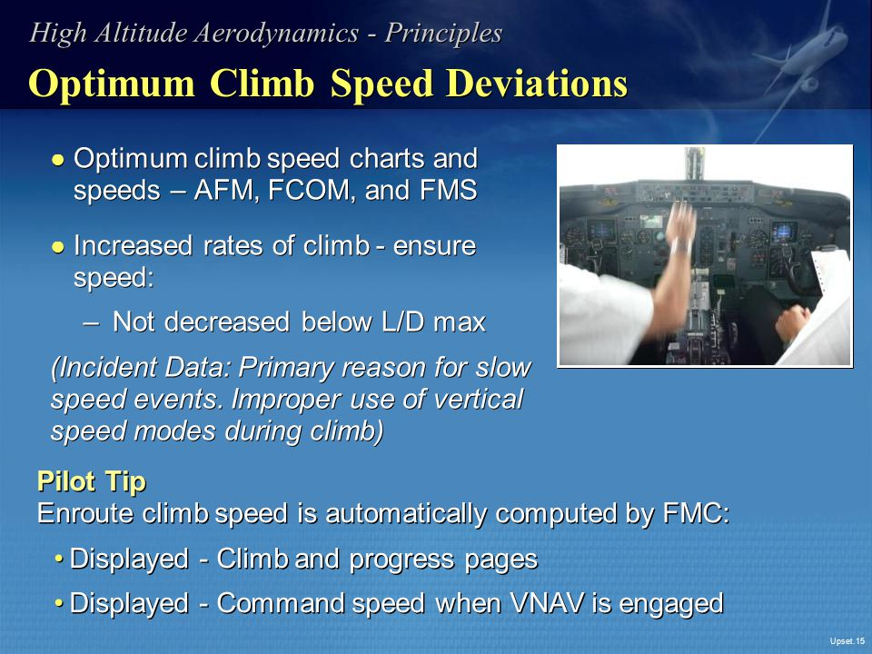 Optimum Climb Speed Deviations