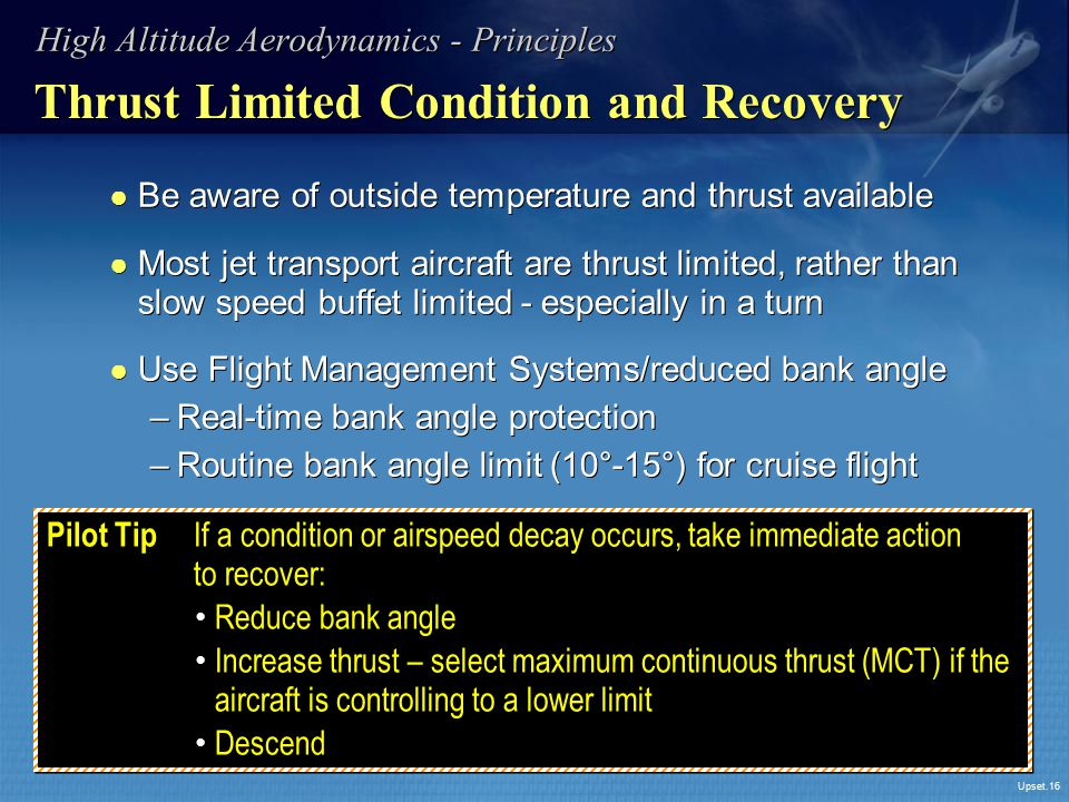 Thrust Limited Condition and Recovery