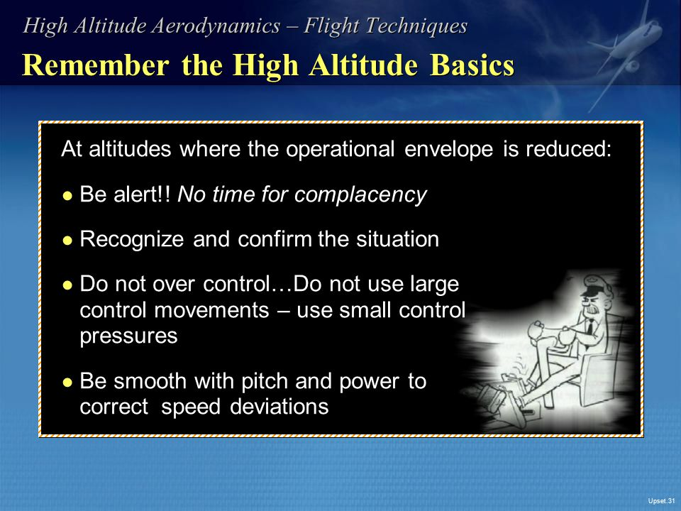 Remember the High Altitude Basics