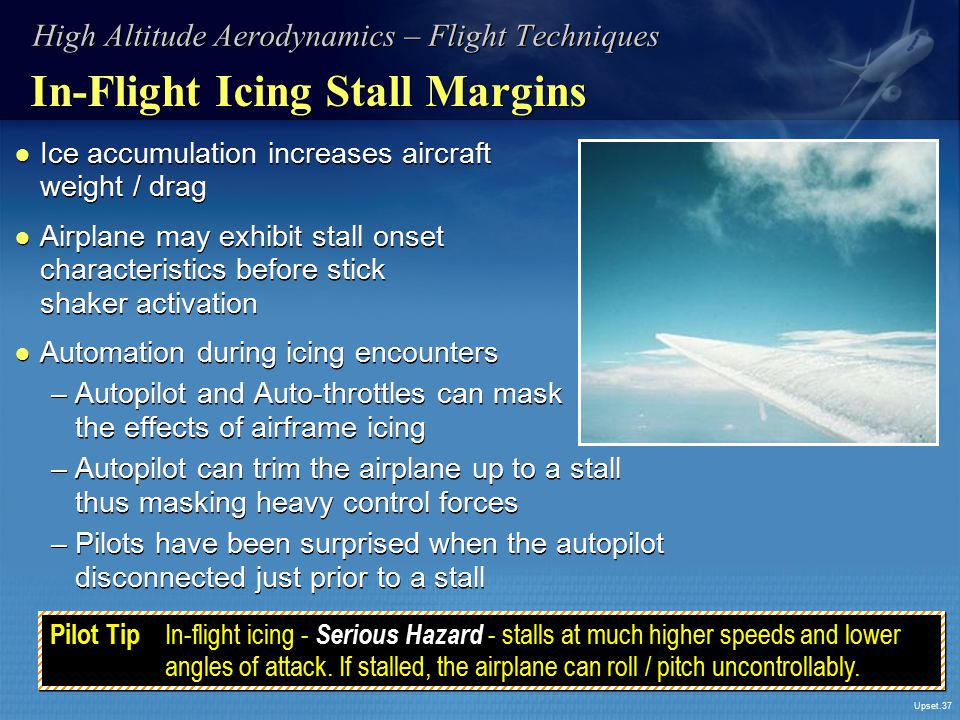 In-Flight Icing Stall Margins