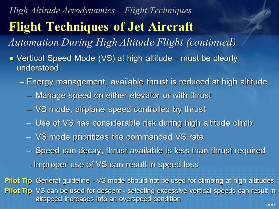 Flight Techniques of Jet Aircraft