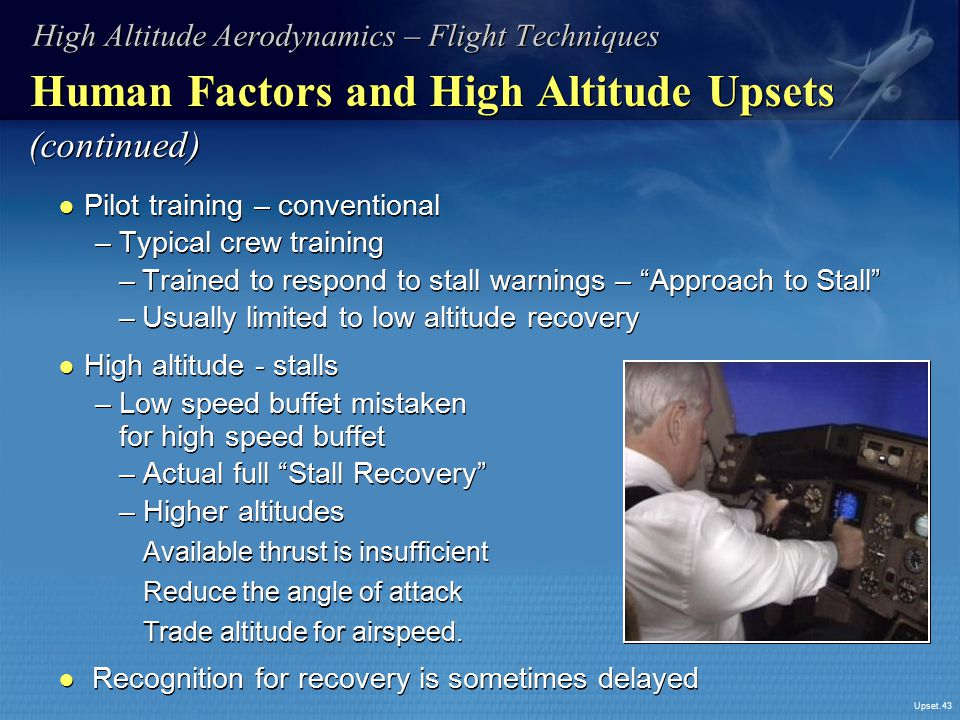 Human Factors and High Altitude Upsets