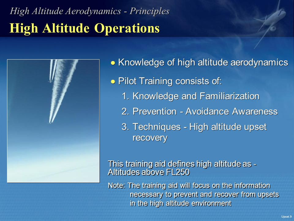 High Altitude Operations