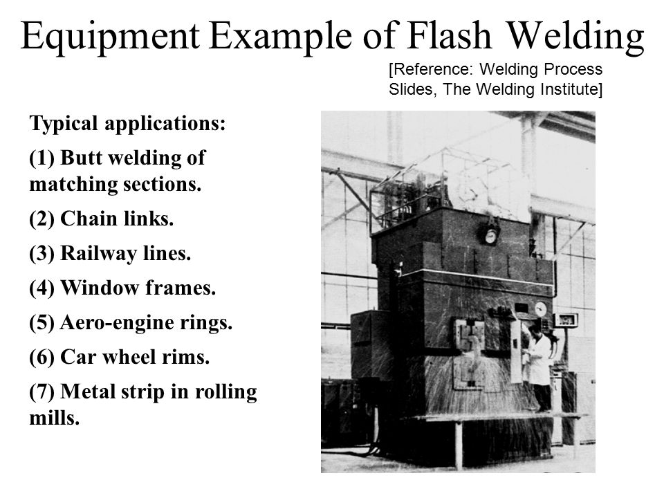 Equipment Example of Flash Welding