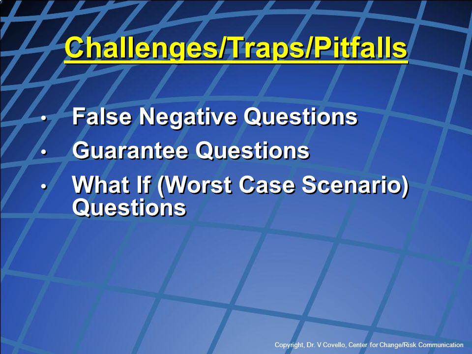 Challenges/Traps/Pitfalls