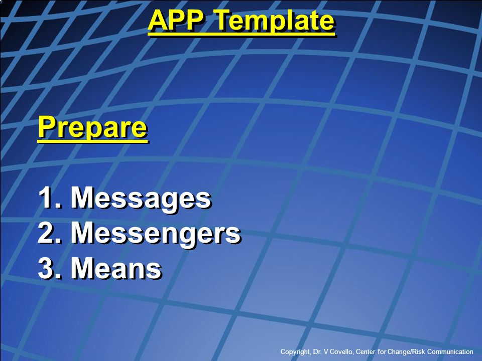 Prepare Messages Messengers Means APP Template