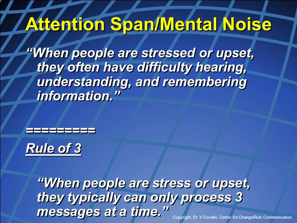 Attention Span/Mental Noise