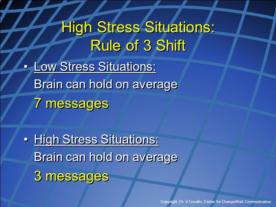 High Stress Situations: Rule of 3 Shift