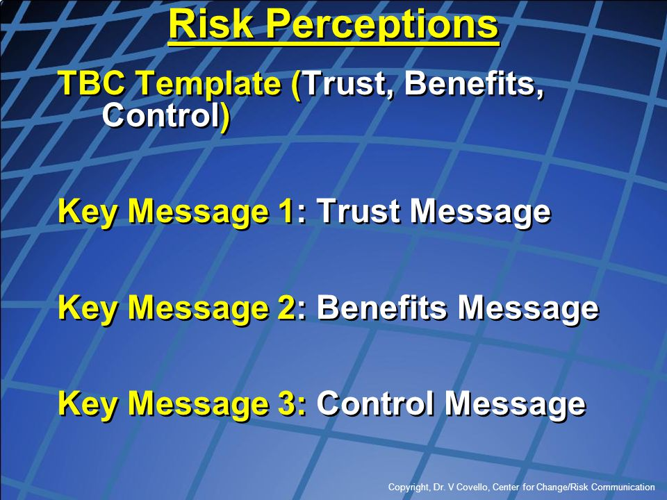 Risk Perceptions TBC Template (Trust, Benefits, Control)