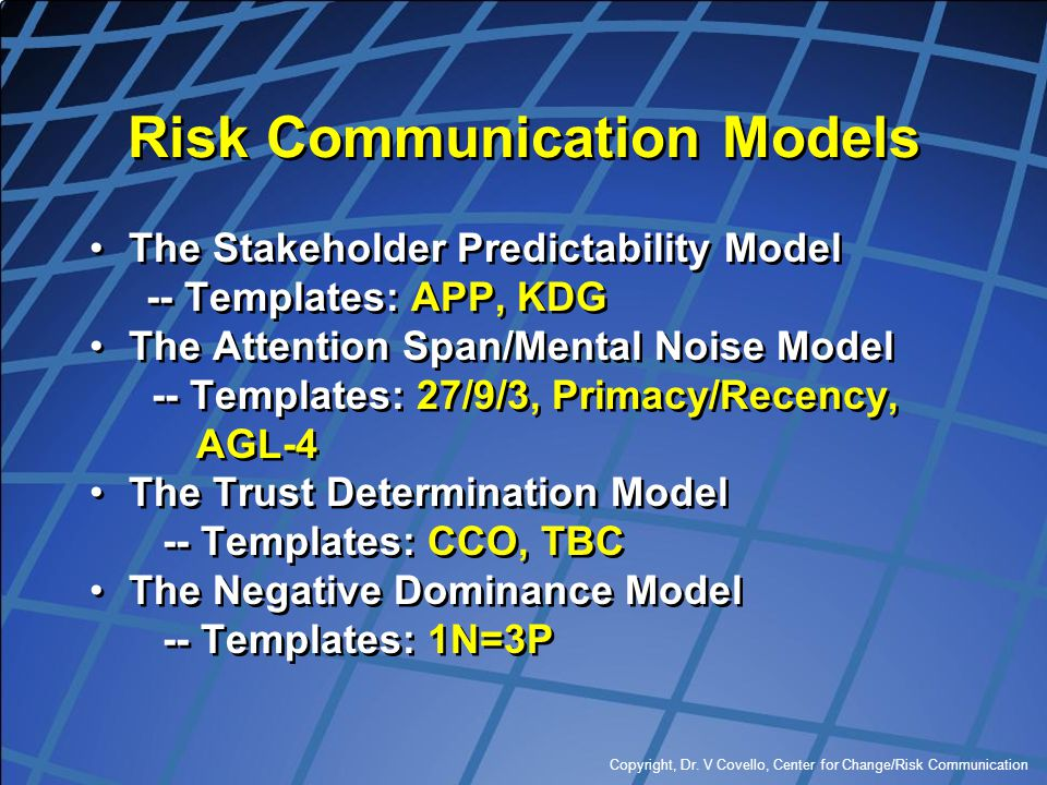 Risk Communication Models