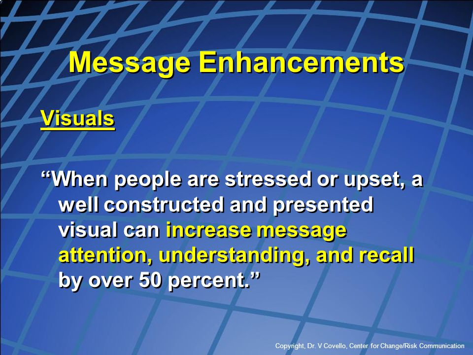 Message Enhancements Visuals