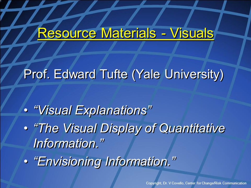 Resource Materials - Visuals