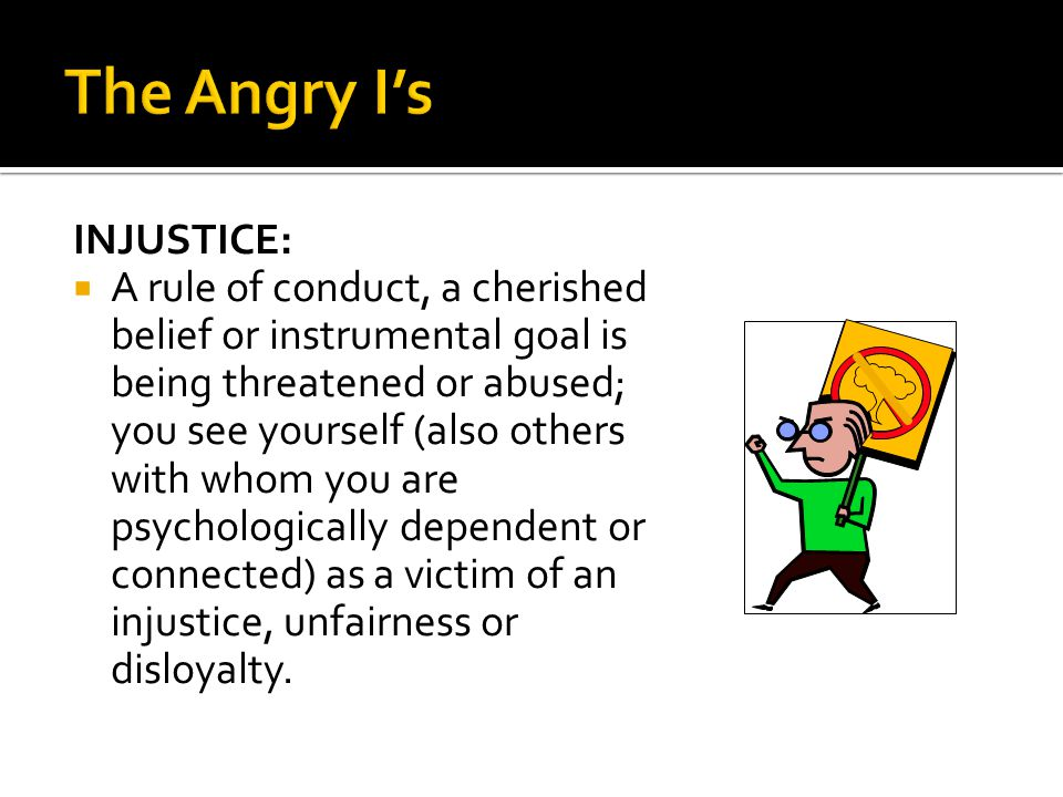 The Angry I's INJUSTICE: