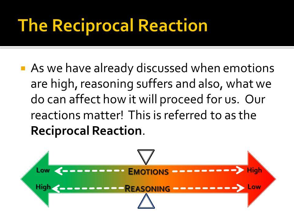 The Reciprocal Reaction