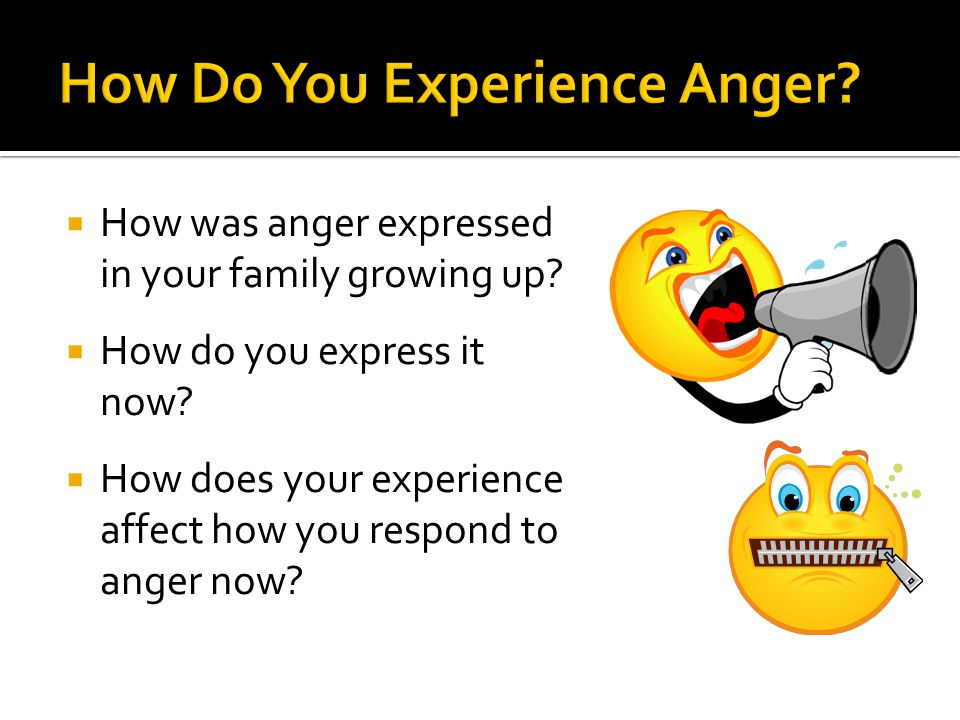 How Do You Experience Anger