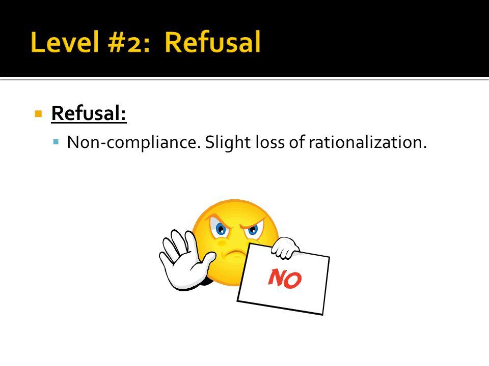 Level #2: Refusal Refusal: