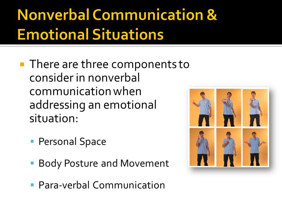Nonverbal Communication & Emotional Situations