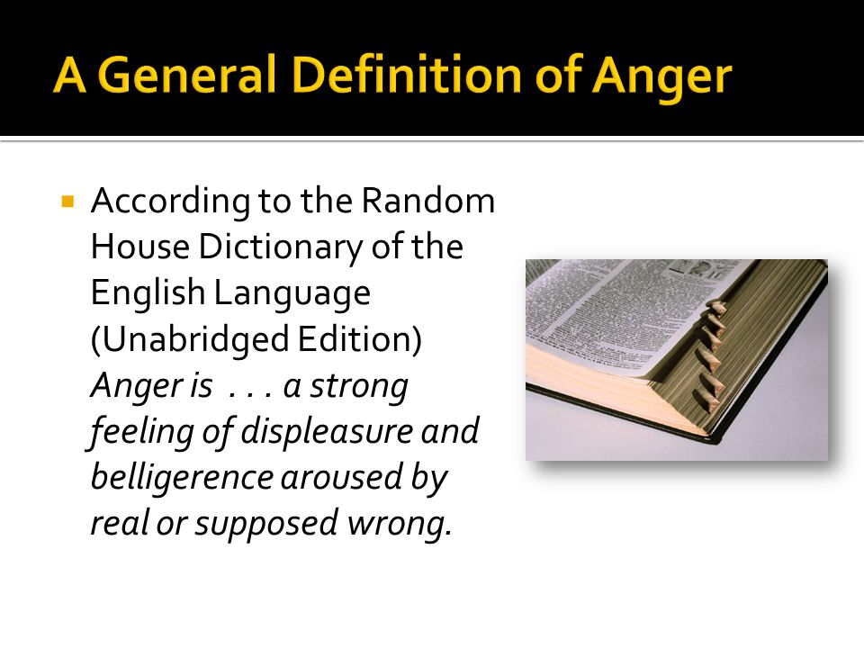 A General Definition of Anger