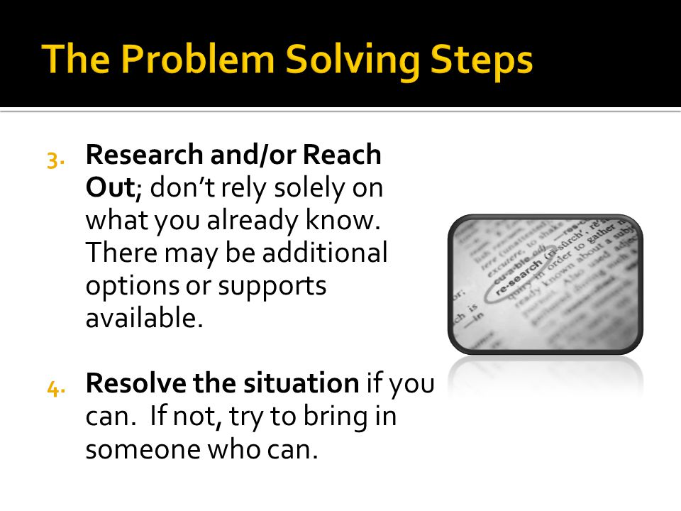 The Problem Solving Steps