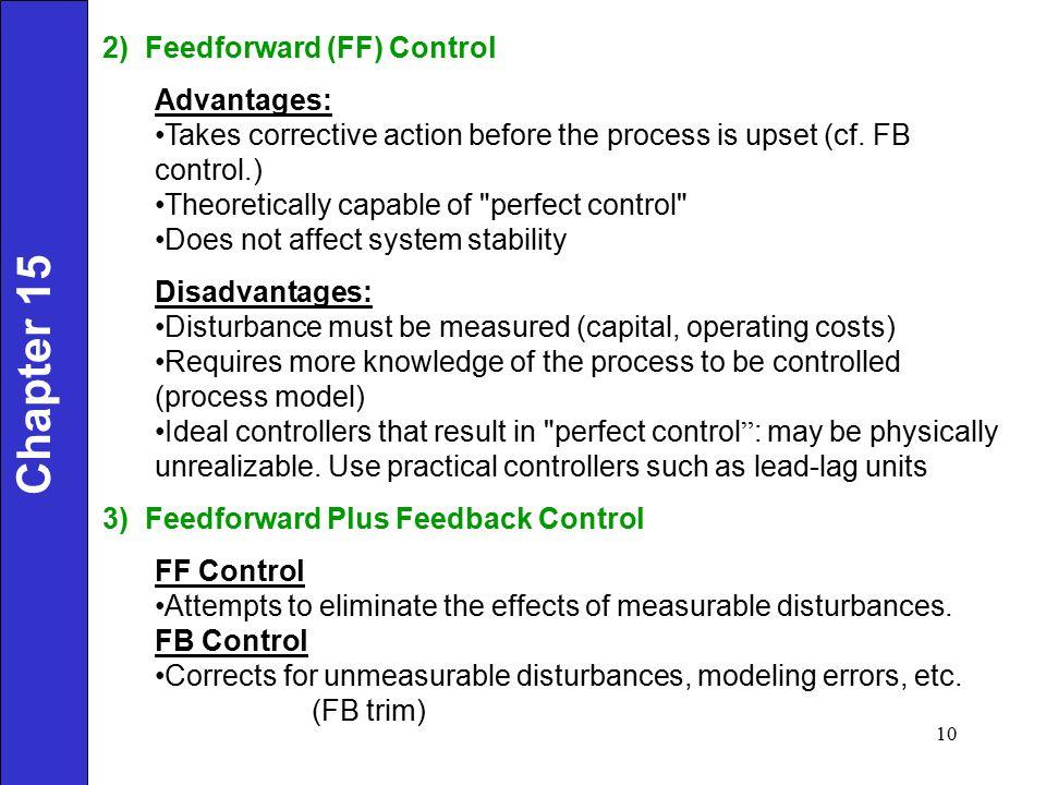 Chapter 15 2) Feedforward (FF) Control Advantages: