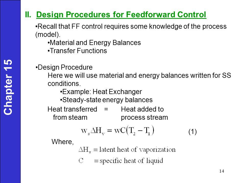 Chapter 15 II. Design Procedures for Feedforward Control