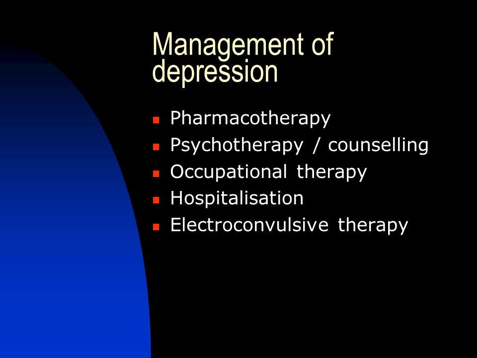 Management of depression