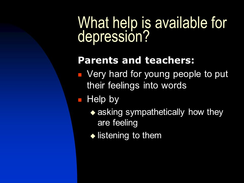 What help is available for depression