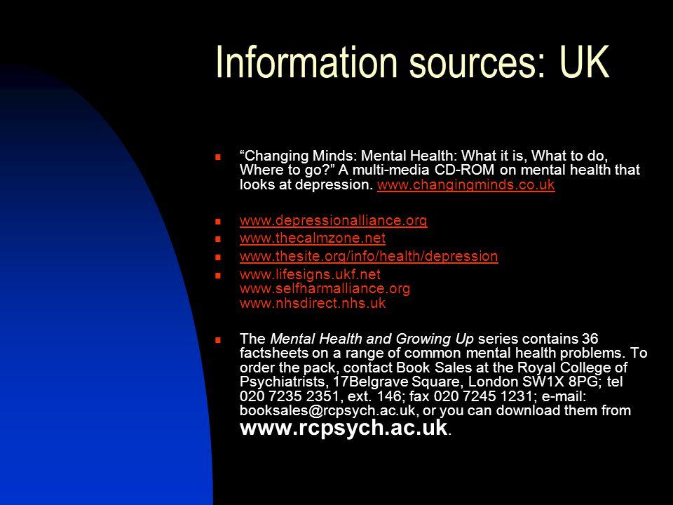 Information sources: UK