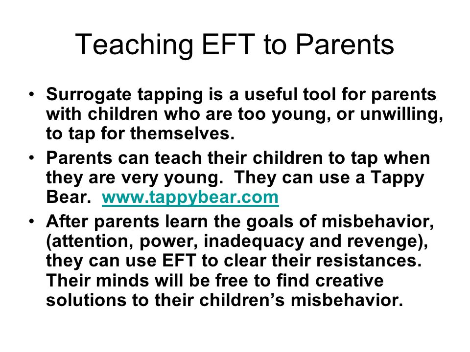 Teaching EFT to Parents