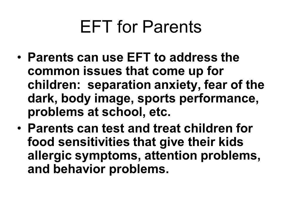 EFT for Parents