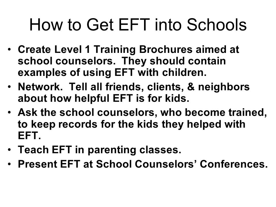 How to Get EFT into Schools