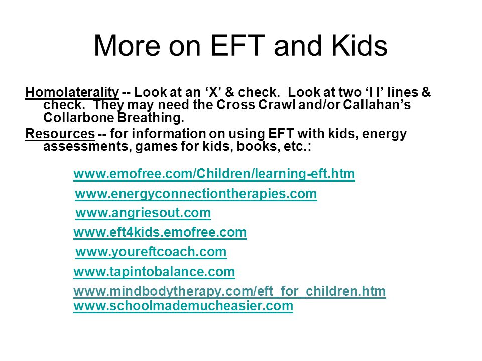More on EFT and Kids